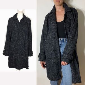 French Connection • tweed wool button up jacket